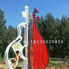 小提琴雕塑公園不銹鋼雕塑