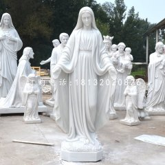 圣母石雕,漢白玉教堂人物雕塑