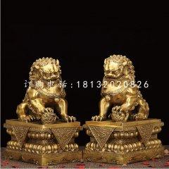 銅獅子,鎏金銅北京獅