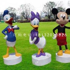 唐老鴨米老鼠雕塑,卡通動物雕塑