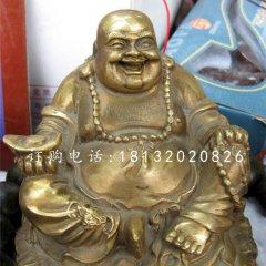 招財彌勒佛雕塑,銅雕佛像