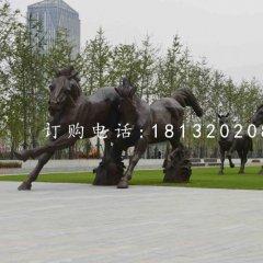 奔馬銅雕,廣場動物雕塑