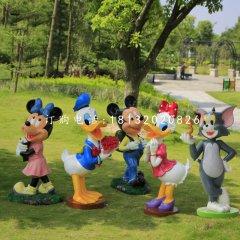 米老鼠唐老鴨雕塑,公園卡通擺件