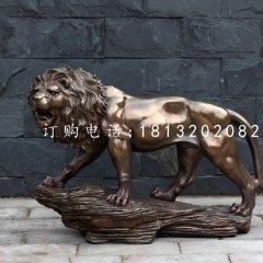 非洲獅銅雕,廣場銅獅子