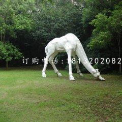 長頸鹿石雕,公園動物石雕