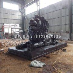 西洋獅銅雕,廣場銅獅子