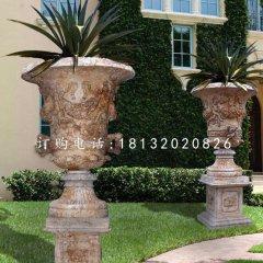 石雕花盆,欧式花钵