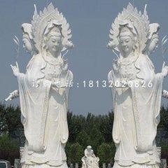 三面观音石雕,大理石佛像