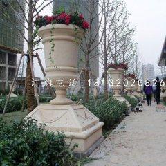 石花盆,小区景观石雕
