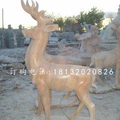 晚霞紅小鹿,動物石雕