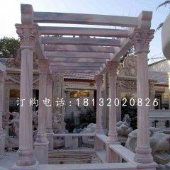 晚霞红长廊,景观石雕
