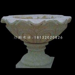 大理石花盆雕塑,公园景观石雕
