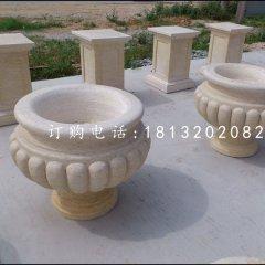 花钵石雕,小型石花盆