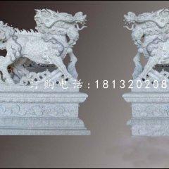 花崗巖麒麟雕塑,神獸石雕