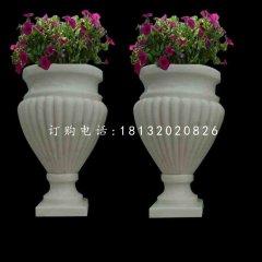 欧式花盆石雕,别墅石花盆