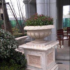 欧式花盆雕塑,花钵石雕