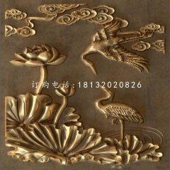 仙鹤铜浮雕,景观铜浮雕