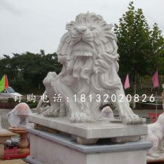 漢白玉獅子,歐式獅子石雕