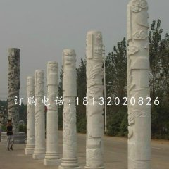 广场石柱子,汉白玉柱子