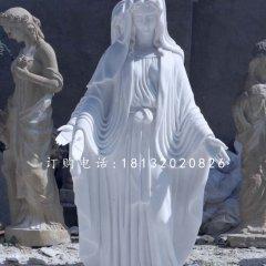 漢白玉圣母雕塑,西方人物石雕