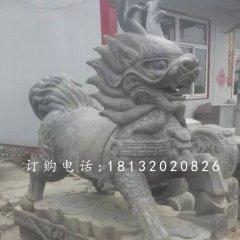 青石麒麟雕塑,廣場石雕麒麟
