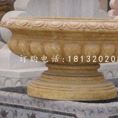 砂岩花钵雕塑,欧式花盆