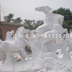 駿馬石雕,漢白玉動物石雕