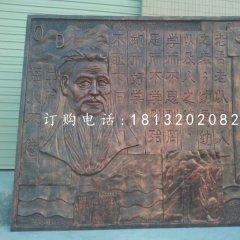 孔子銅浮雕,校園浮雕