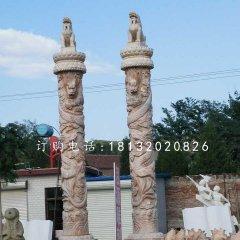龙柱石雕,广场石雕柱子