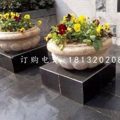 小型石花盆,花钵石雕