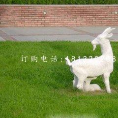 羊羔跪乳石雕,公園動物石雕