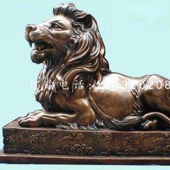 銀行門口銅獅子,匯豐獅銅雕
