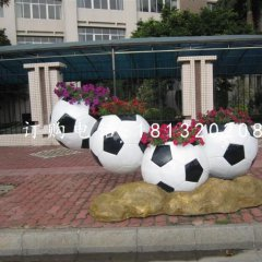 足球造型花盆,玻璃钢花盆