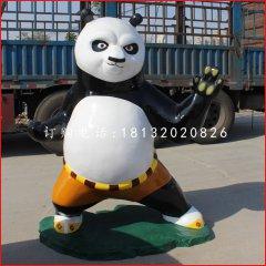 阿寶雕塑,玻璃鋼功夫熊貓