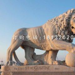 非洲獅石雕,廣場石獅子