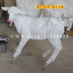 玻璃钢小山羊仿真动物雕塑