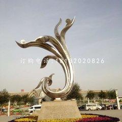 不锈钢抽象金凤凰广场不锈钢雕塑