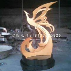 不锈钢抽象凤凰公园不锈钢雕塑