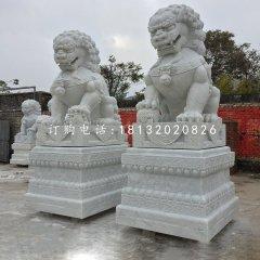 大理石北京獅看門獅子石雕