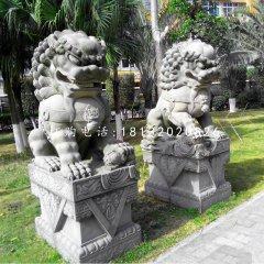 大理石獅子北京獅石雕