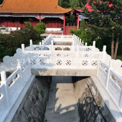 汉白玉栏板 寺庙栏板石雕