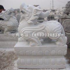 漢白玉貔貅雕塑古代神獸石雕