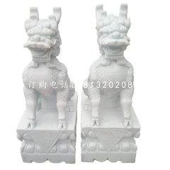 漢白玉麒麟雕塑門口麒麟石雕