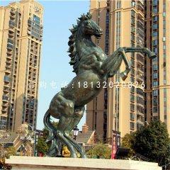 立馬銅雕公園小區銅雕