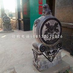 石雕狮子门墩仿古门墩雕塑