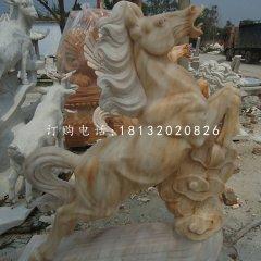 晚霞紅立馬雕塑動物石雕