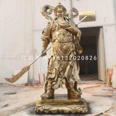 鑄銅關公雕塑古代人物銅雕