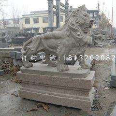 大理石獅子雕塑石雕西洋獅子