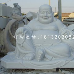 漢白玉佛像石雕彌勒佛雕塑
