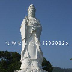 汉白玉观音菩萨大型佛像石雕